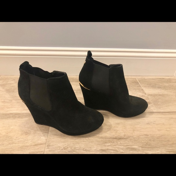 376cacc305ad Jessica Simpson Shoes - Jessica Simpson Suede Wedge Bootie